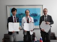 ロシア連邦モスクワ MONIKI病院と札幌禎心会病院と当社が日本式医療展開に関わる合意書締結しました。