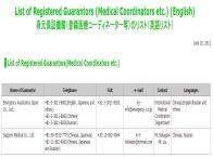 親会社が医療滞在査証の身元引受機関に登録されました。